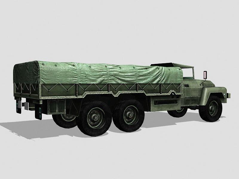 Acmat VLRA Military Truck 3d rendering