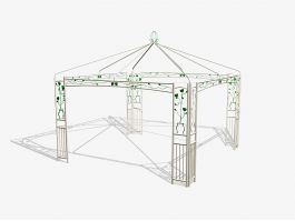 Outdoor Garden Gazebo 3d preview