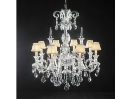 Classic Crystal Damask Chandelier 3d preview