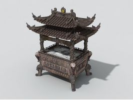 Large Chinese Censer 3d preview