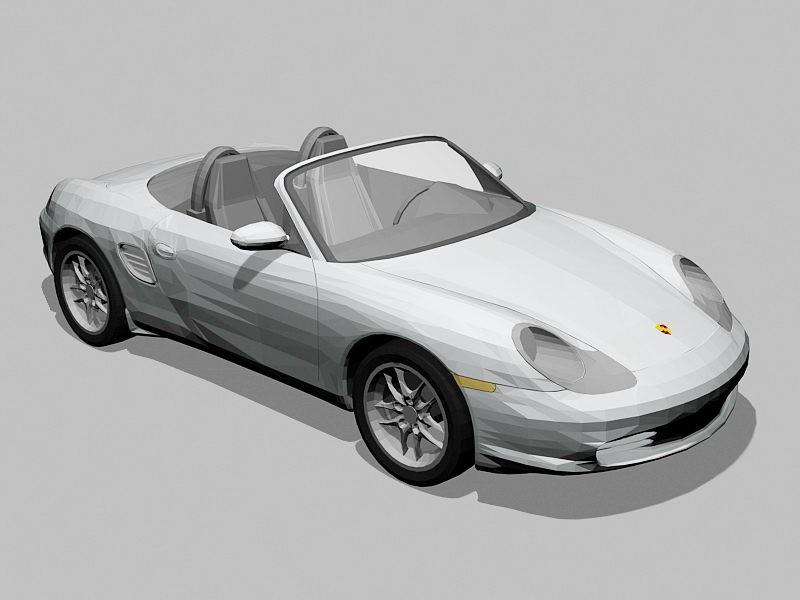 Porsche Boxster Spyder 3d rendering