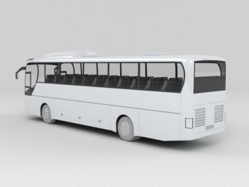 Coach Bus 3d rendering