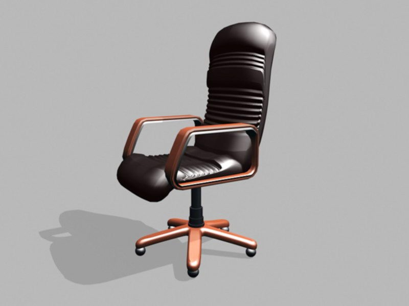 Executive Office Desk Chair 3d rendering