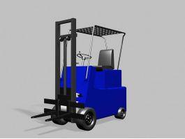 Blue Forklift 3d preview
