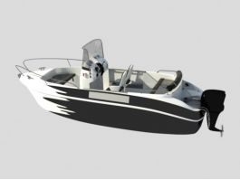 Open Motor Boat 3d preview