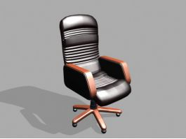 Executive Office Desk Chair 3d model preview