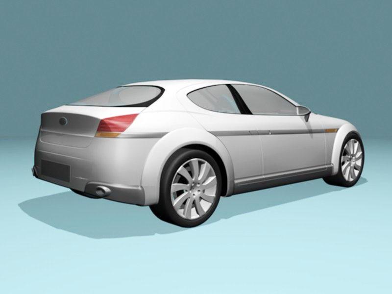 Subaru B11S 3d rendering