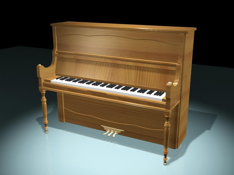 Modern Piano 3d rendering