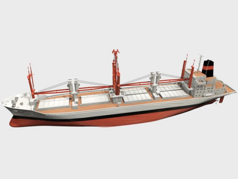 General Cargo Ship 3d rendering