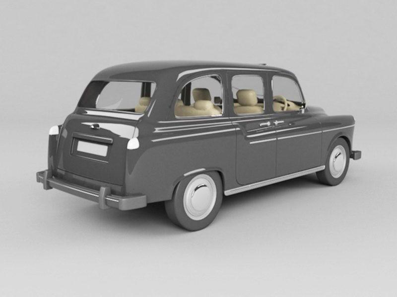 Classic Sedan Car 3d rendering