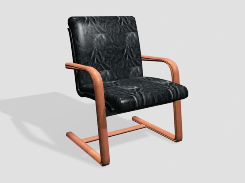 Leather Executive Office Desk Chair 3d rendering