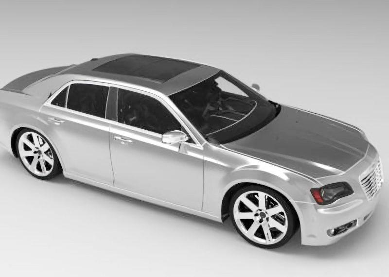 Chrysler 300C Car 3d rendering