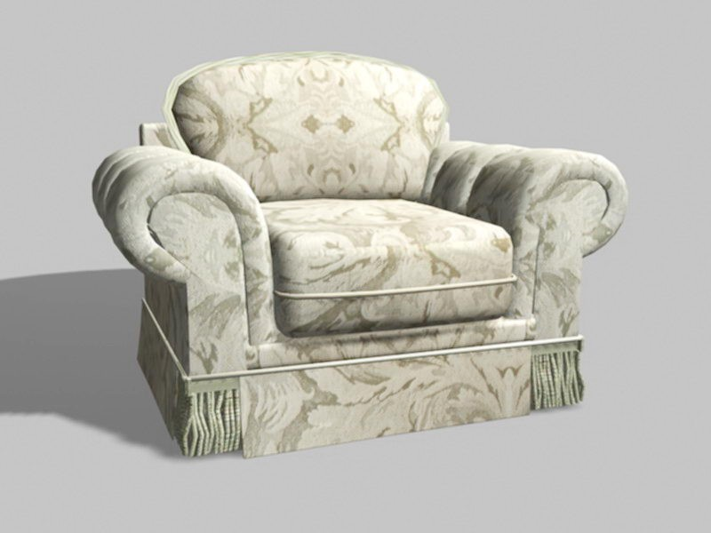 Upholstered Accent Chair 3d rendering