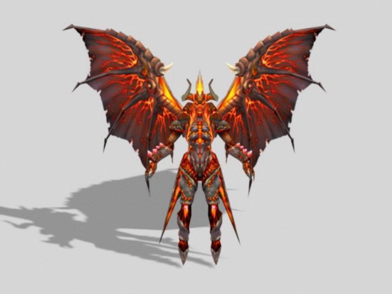 Devil Demon with Wings 3d rendering