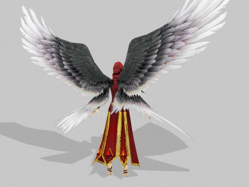 Female Blood Angel Warrior 3d rendering