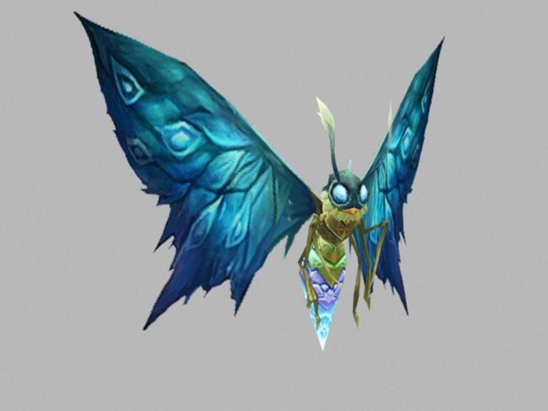 Anime Blue Butterfly 3d rendering