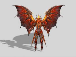 Devil Demon with Wings 3d preview