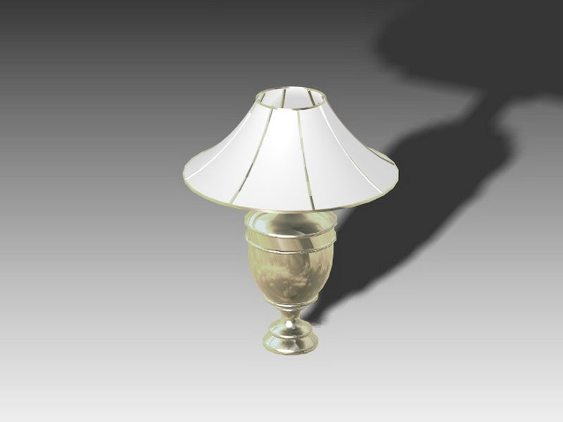 Trophy Table Lamp 3d rendering