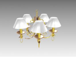 5-Arms Victorian Ceiling Lights 3d preview