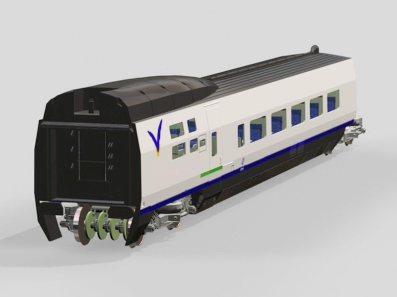 Train Passenger Car 3d rendering