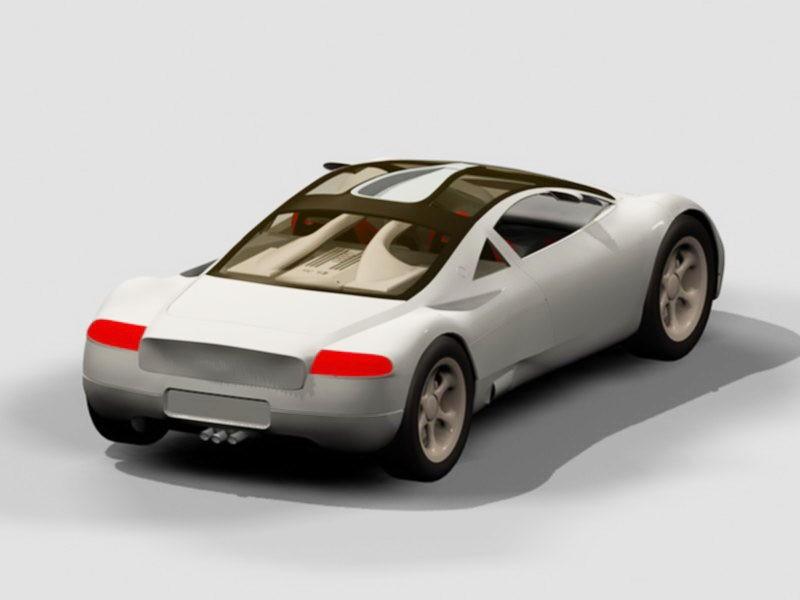 Audi Quattro Concept 3d rendering