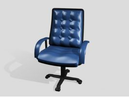 Blue Swivel Desk Chair 3d preview