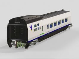 Train Passenger Car 3d preview
