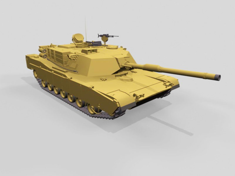 M1A1 Abrams Tank 3d rendering