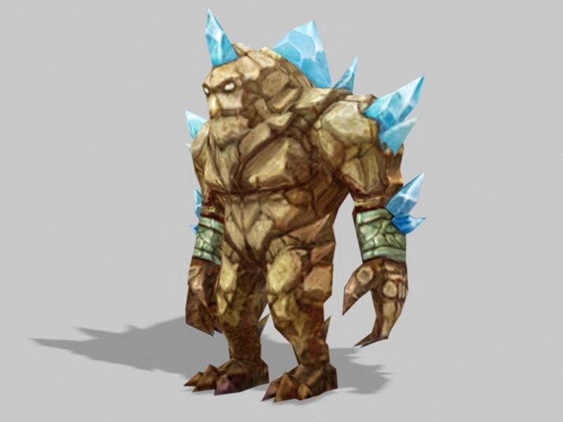 Giant Rock Creature 3d rendering