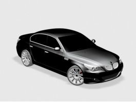 Black BMW Sedan 3d preview