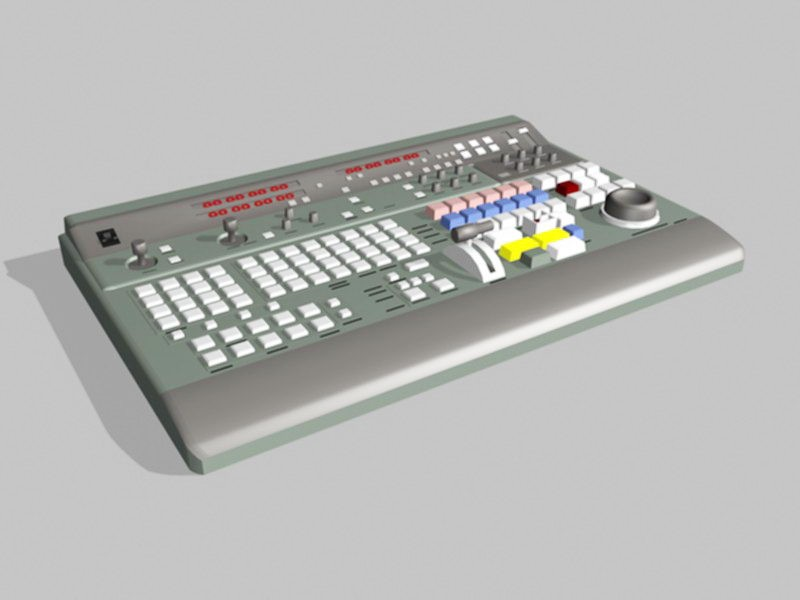 Digital Music Electronic Keyboard 3d rendering