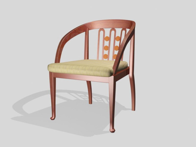 Dining Chair with Arms 3d rendering