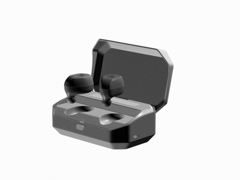 Bluetooth Earbuds 3d rendering