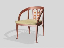 Dining Chair with Arms 3d preview