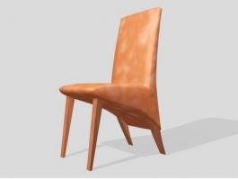 Vintage Leather Dining Chair 3d preview