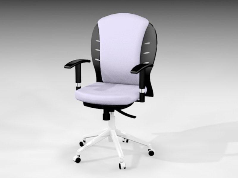 Unique Office Chair 3d rendering