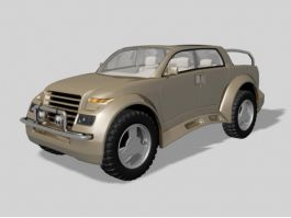 Concept Small Pickup Truck 3d preview