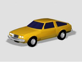 Yellow Sports Car 3d preview