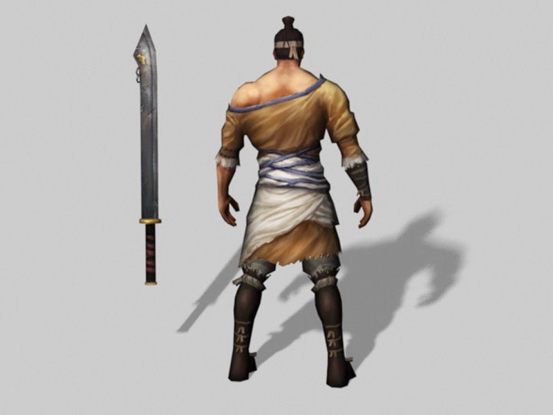 Chinese Warrior Character Art 3d rendering