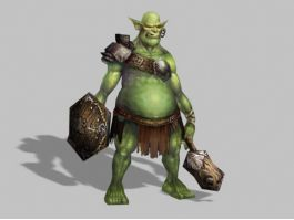 Armored Orc Warrior 3d preview