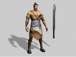 Chinese Warrior Character Art 3d preview