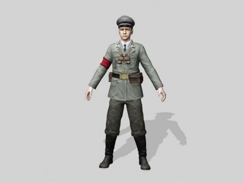 WW2 Nazi Soldier 3d rendering