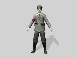 WW2 Nazi Soldier 3d preview
