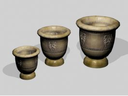Terracotta Garden Pots 3d preview