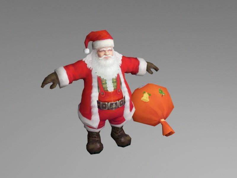 Santa Claus 3d rendering