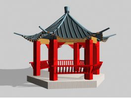 Traditional Chinese Garden Pavilion 3d preview