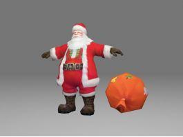 Santa Claus 3d preview