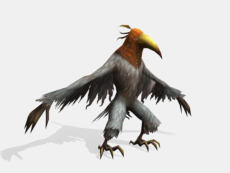 Crow Assassin 3d rendering