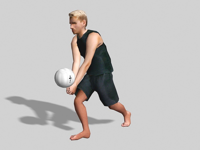 Guy Volleyball Player 3d rendering