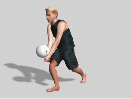 Guy Volleyball Player 3d model preview